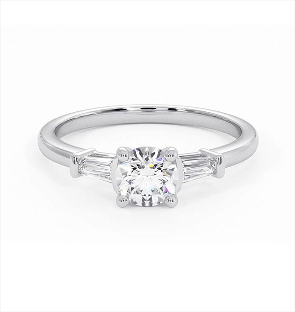 Isadora GIA Diamond Engagement Ring 18KW 0.65ct G/SI1 - 360 View