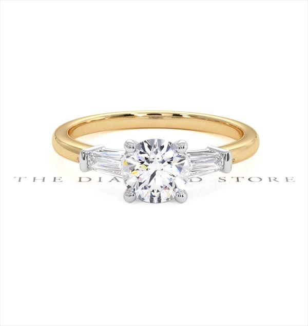 Isadora GIA Diamond Engagement Ring 18KY 0.90ct G/SI2 - 360 View