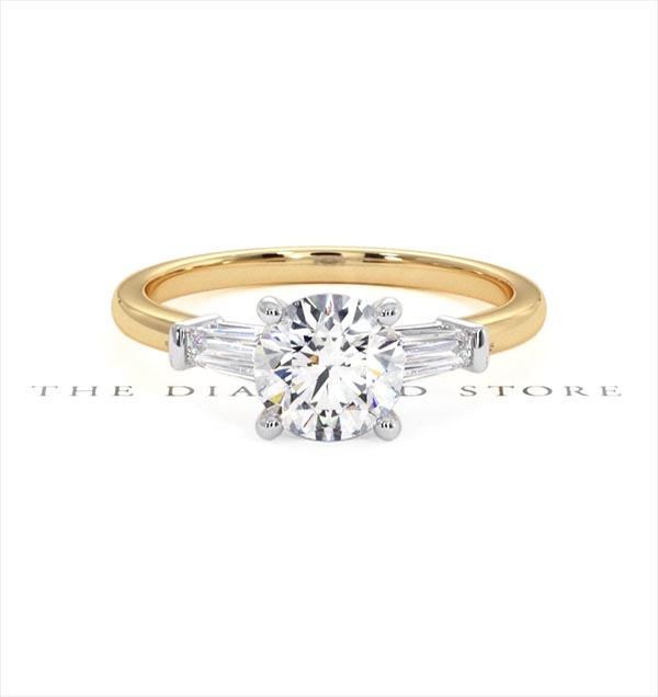 Isadora GIA Diamond Engagement Ring 18KY 1.10ct G/SI2 - 360 View